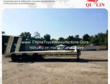 China Factory Price Extendable Lowboy Flatbed Semi Trailer for Sale