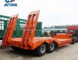 Hot Sale High Quality 2axle Lowbed Semi Trailer/Lowboy Trailers Dimensions