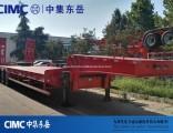 Cimc 3 Axle Low Bed Trailer Lowboy Semi Trailer Trcuk Tractor Trailer
