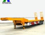 3 Axles Drop Deck Lowbed Truck Semi Lowboy Trailer