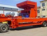 3 Axle Excavator Transport Gooseneck Lowboy Low Bed Semi Trailer