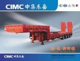 Cimc 4 Axle Low Bed Trailer Lowboy Semi Trailer Trcuk Tractor Trailer