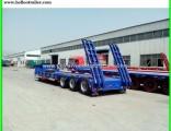 60ton 3 Axle Gooseneck Lowboy Semi Truck Trailers for Sale