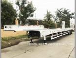 3axles Excavator Transport Gooseneck Lowboy Lowbed Semi Trailer