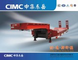 Cimc Best Selling Lowboy Low Bed Semi Trailer Used for Excavator