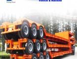 3axles Excavator Transport Gooseneck Lowboy Low Bed Lowbed Semi Trailer