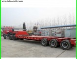 100 Tons Lowboy Semi Truck Trailer with Dolly