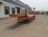 3axles Excavator Transport Gooseneck Lowboy Low Bed Lowbed Semi Trailer with ISO9001/CCC Certificate