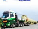 3 Axle Low Bed Trailer Lowboy Semi Trailer Tractor Trailer