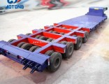 China Manufacture 8axle Heavy Duty Low Bed Trailer/Lowboy Trailers 100 Ton