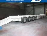 80 Tons Drop Deck Lowboy Trailer, 16m Long Bed Equipment Trailer for Sale