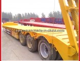 Heavy Duty Detachable Lowboy Low Bed Semi Trailer with Gooseneck and 3 Axles 60 Tons for Sale