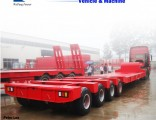 Weifang Forever3axles 50-100tons Tank Arc Lowboy Low Bed Truck Semi Trailer