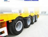 Weifang Forever 3axles Excavator Transport Gooseneck Lowboy Low Bed Lowbed Semi Trailer