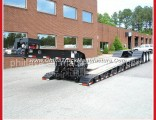 Front Loading Hydraulic Lowboy/ Low Loader Trailer for Sale
