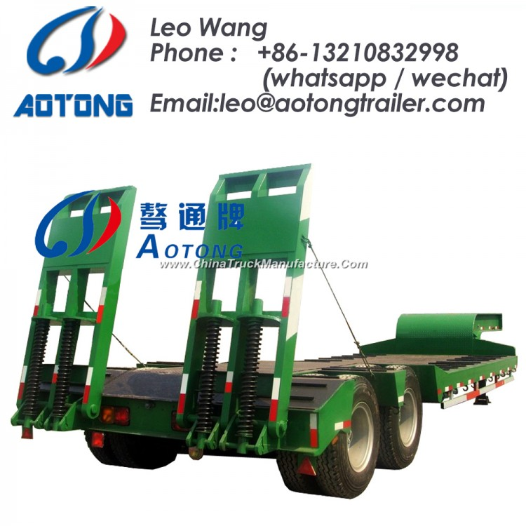 80 Tons 2 Lines 3/4 Axles Low Bed/Lowboy Truck Trailer
