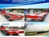 Hydraulic Axles Heavy Duty Transport Extendable Low Bed Semi Trailer