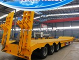 3 Axle Low Bed Semi Trailer with Mechanical Ladders