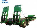 China Polular Exposed Tires Design 2 Axle Low Bed Trailer