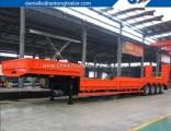 Heavy Duty Excavators Transporting Widened 4 Axle Low Bed Trailer