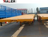 3 Axle 13 Meters Low Bed Flatbed Semi Trailer