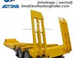 Extendable Low Boytrailer Gooseneck Detachable Low Bed Semi Trailer