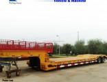 Tri Axles Gooseneck Excavator Low Bed Semi Trailer