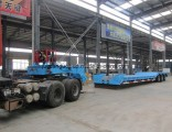 Removable Gooseneck Front Loading 3 Axle Low Bed Trailer