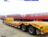 3axles Excavator Transport Gooseneck Low Bed Lowbed Semi Trailer