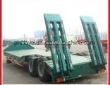 Heavy Duty Double Axles Excavator Transporting Gooseneck Lowbed Low Bed Semi Trailer