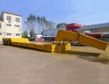 3 Axles 60 Tons Detachable Gooseneck Low Bed Semi Trailer