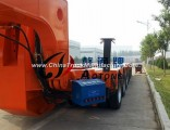 80tons Hydraulic Detachable Gooseneck Low Bed Front Load Trailer