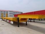China Gooseneck Horse Livestock Flat Low Bed Semi Trailer