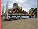 3 Axles 60 Tons Gooseneck Low Bed Semi Trailer for Excavator Transportation
