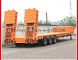 3 Axles Gooseneck Transport Excavator Lowbed Low Bed Heavy Haul Trailer