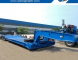 60 Tons 3 Axle Gooseneck Removable Front Loading Low Bed Semi Trailer