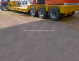 3 Axle 40FT Low Bed Trailer Dimensions 60tons Gooseneck Lowbed Trailer