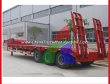 50 Tons Gooseneck Heavy Machine Transport Lowbed Low Bed Boy Semi Trailers with Ramp