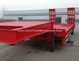 100 120 150 Tons Detachable Gooseneck Low Bed Semi Trailer for Machine Transport