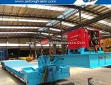 Crawler Crane Transport Front Loading 60 Tons Gooseneck Detachable Low Bed Semi Trailer