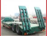 3 Axles Low Loading Gooseneck Lowbed Low Bed Semi Trailer