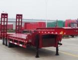 3 Axle 60t Gooseneck Excavator Transport Semi Trailer Width 2.5m Extend to 3m