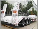 80t Hydraulic Lowbed/Low Deck/ Low Loader Cargo Semi Truck Trailer
