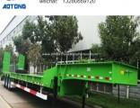 Manufacturer 3 Axle 70tons Excavator Transport Low Bed Gooseneck Trailer