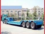 3axles Gooseneck Detachable Lowbed Front Loading Hydraulic Truck Semi Trailer