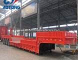 4 Axles 100t Hydraulic Gooseneck Detachable Low Bed Semi Trailer