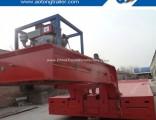 100 Tons 3 Line 6 Axle Gooseneck Detachable Front Loading Low Bed Semi Trailer