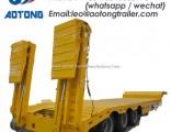 3 Axle Extendable Low Boytrailer Gooseneck Detachable Low Bed Semi Trailer