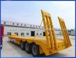 3 Axles Heavy Duty Extendable Lowbed Trailer Gooseneck Trailer