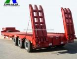 Fuwa Axles Gooseneck Heavy Duty Truck Lowbed Semi-Trailer